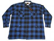 Holzfäller-Arbeitsjacke in Übergröße 5XL Blau-Schwarz