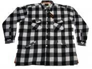 Holzfäller-Arbeitsjacke in Übergröße 10XL Schwarz-Weiß