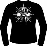 T-Shirt langarm mit Druck F 5061