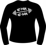 T-Shirt langarm mit Druck F 5062