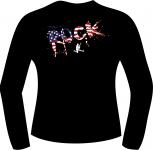 T-Shirt langarm mit Druck F 8283
