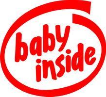 """Textil mit Druck """"BabyInside"""", 2XL-12XL Größe Wählen:"""