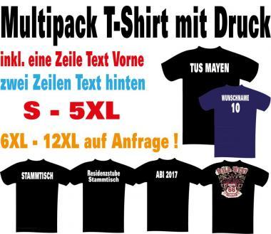 Multipack T-Shirt mit Werbedruck