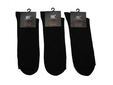 3 paar Socken ohne Gummi mit Softrand Gr 47-50 Schwarz