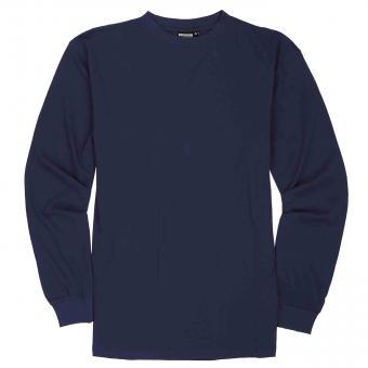 T-Shirt langarm in Übergröße Navy