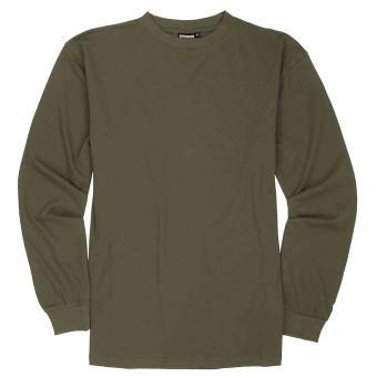 T-Shirt langarm in Übergröße  Khaki