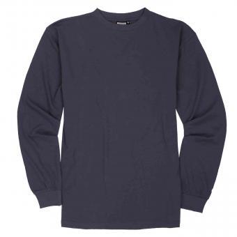 T-Shirt langarm in Übergröße Anthrazit