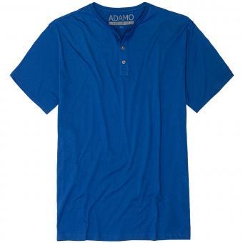 T-Shirt mit Knopfleiste in Übergröße Royal