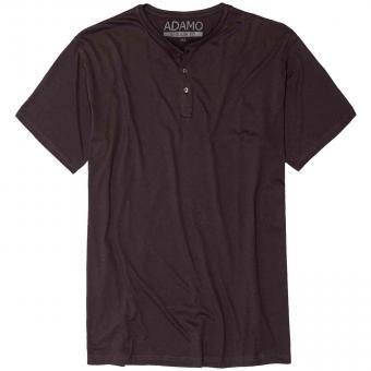 T-Shirt mit Knopfleiste in Übergröße  Anthrazit