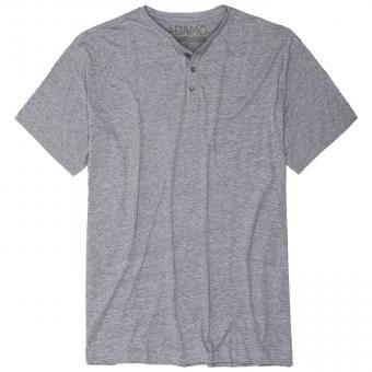 T-Shirt mit Knopfleiste in Übergröße  Grau