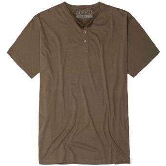 T-Shirt mit Knopfleiste in Übergröße  Khaki