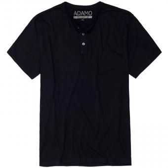 T-Shirt mit Knopfleiste in Übergröße Navy