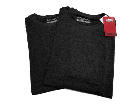 Doppelpack T-Shirt in Übergröße  Anthrazit