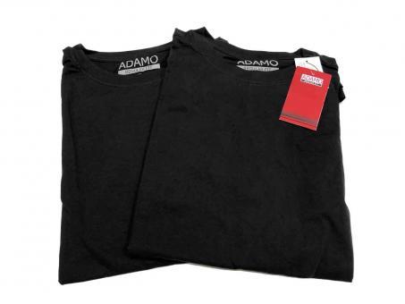 Doppelpack T-Shirt in Übergröße  Schwarz