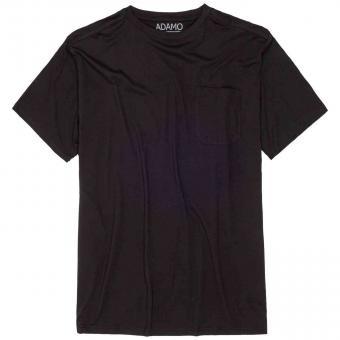T-Shirt mit Brusttasche in Übergröße  Schwarz