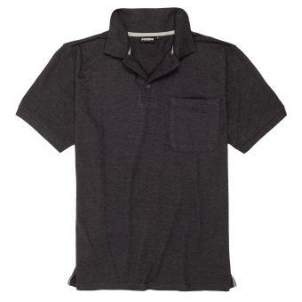 Polo-Shirt mit Brusttasche in Übergröße Anthra