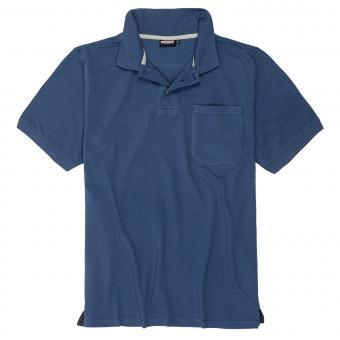 Polo-Shirt mit Brusttasche in Übergröße Marine
