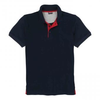 Polo-Shirt ohne Brusttasche in Übergröße Navy
