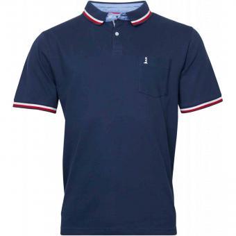 Polo-Shirt kurzarm in Übergröße 7XL Marine