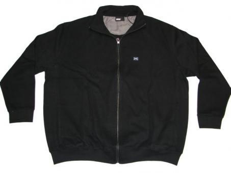 Strick-Jacke in Übergröße, Schwarz
