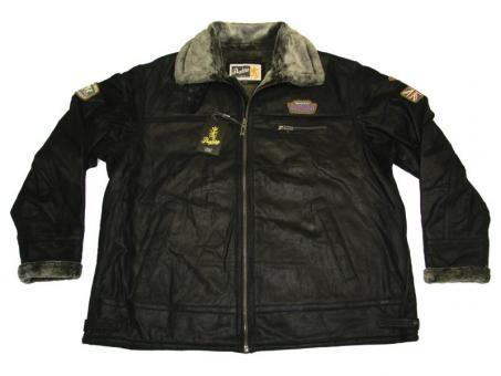 Leder-Jacke in Übergröße