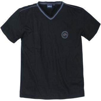 Pyjama T-Shirt-V-Neck in Übergröße