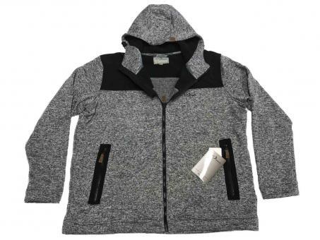 Kapuzen-Strick-Fleece-Jacke in Übergröße