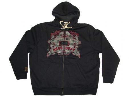 Kapuzen-Sweat-Jacke in Übergröße