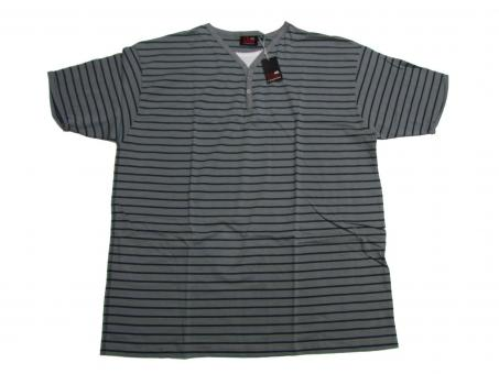 T-Shirt Rundhals in Übergröße 3XL, Grau