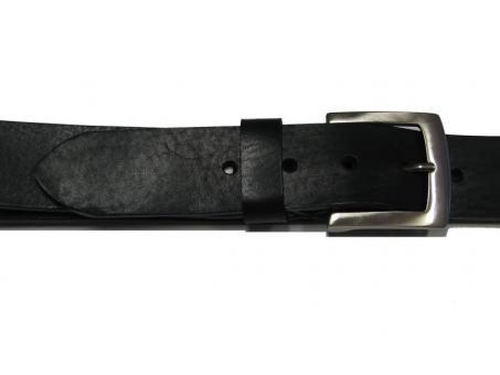 Ledergürtel in Überlänge Schwarz