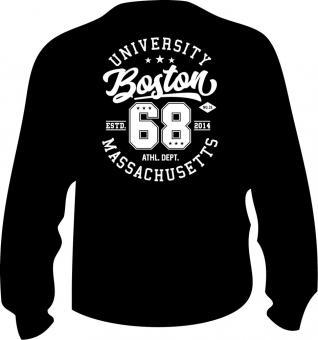 Sweat-Shirt mit Druck in Übergröße 6XL Schwarz