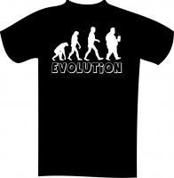 """Textil mit Druck F 5129 """"EVOLUTION"""", 2XL-12XL Größe Wählen:"""