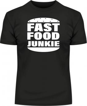 """Textil mit Druck F 5122 """"Fast Food"""", 2XL-12XL Größe Wählen:"""