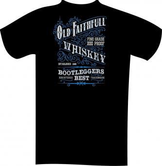 T-Shirt mit Druck in Übergröße 5XL Schwarz