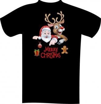 Weihnachts-T-Shirt mit Druck 7125 2XL - 12XL Größe Wählen: