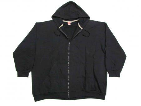 Kapuzen-Sweat-Jacke langarm in Übergröße