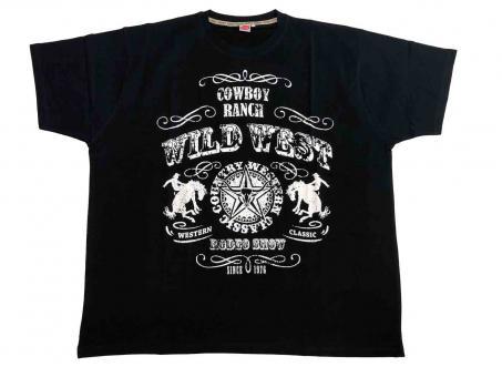 T-Shirt Wild West in Übergröße