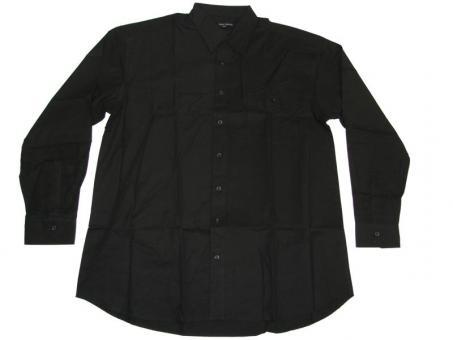 Hemd langarm in Übergröße, 5XL Schwarz