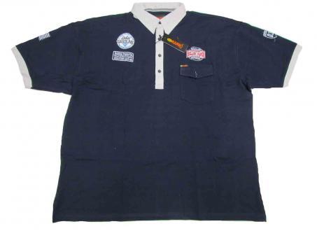 Polo-Shirt in Übergröße Marine 10XL Schwarz