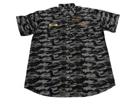 Camouflage Hemd kurzarm in Übergröße,
