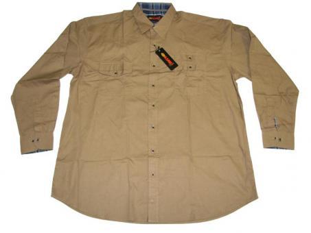 Hemd langarm in Übergröße