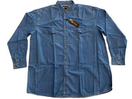 Jeans Hemd langarm in Übergröße