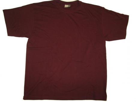 T-Shirt von Promodoro Bordeaux