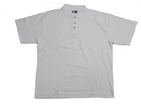 Polo Shirt in Übergröße, Weiß