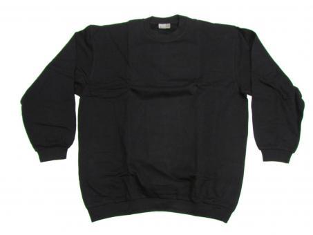 Sweat Shirt in Übergröße, Schwarz