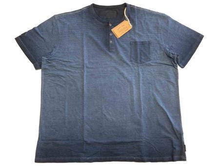T-Shirt mit Knopfleiste kurzarm in Übergröße
