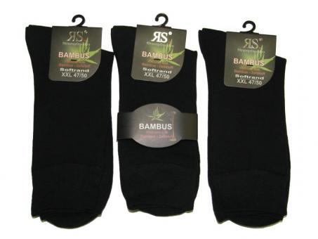 3 paar Socken ohne Gummi Bambus-Viskose