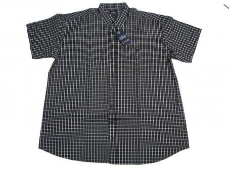 Karo-Hemd kurzarm in Übergröße,