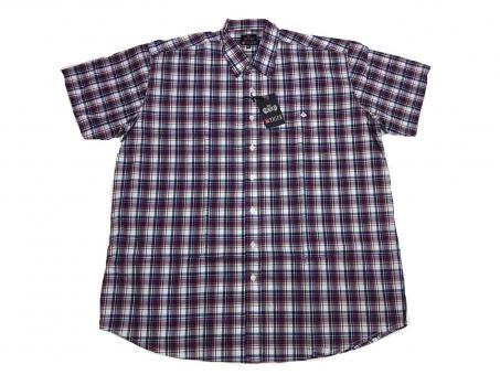 Karo-Hemd kurzarm in Übergröße 7XL Flieder