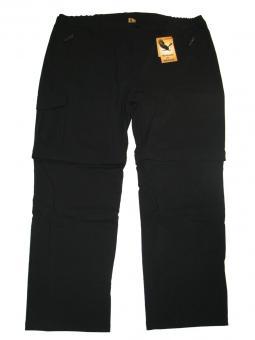 Stretch-Zipp-Off-Hose in Übergröße Schwarz 8XL Schwarz